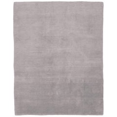 Mohair Dove Hand-Knotted Area Rug in Wool by The Rug Company