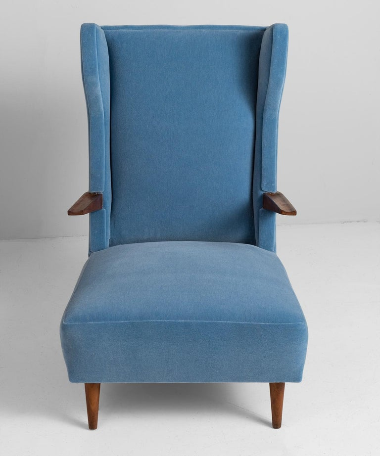 Mohair Modern Wingchairs For Sale 1