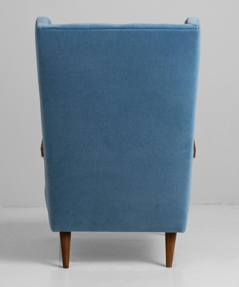 Mohair Modern Wingchairs For Sale 2