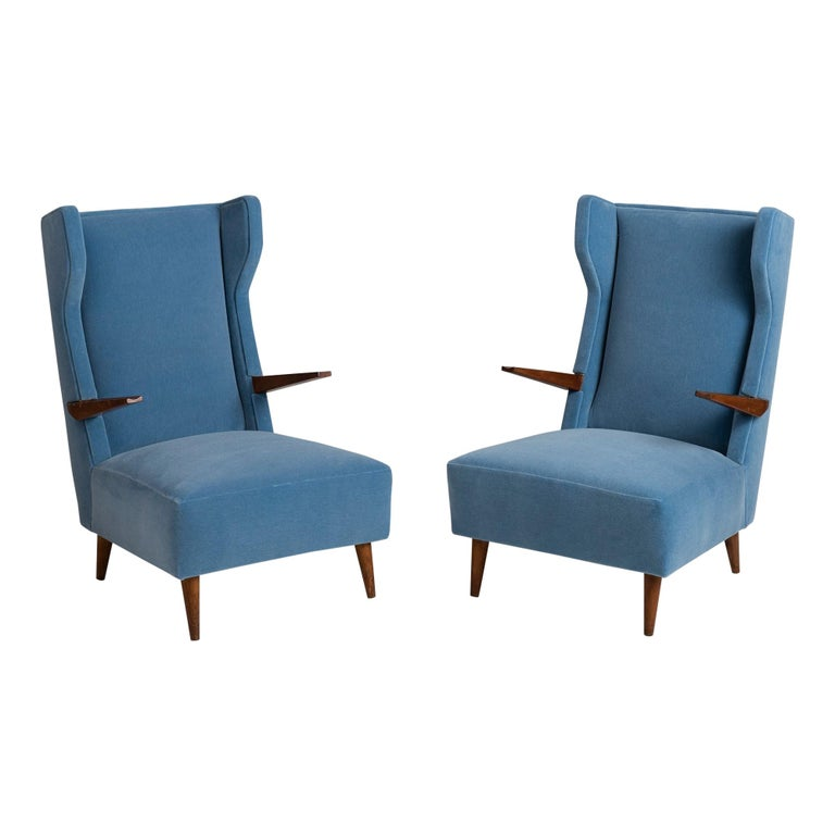 Mohair Modern Wingchairs For Sale