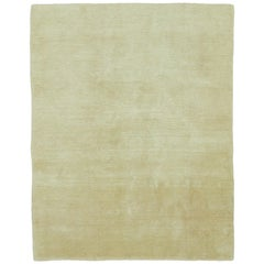 Mohair Natural Hand-Knotted Area Rug in Wool by The Rug Company