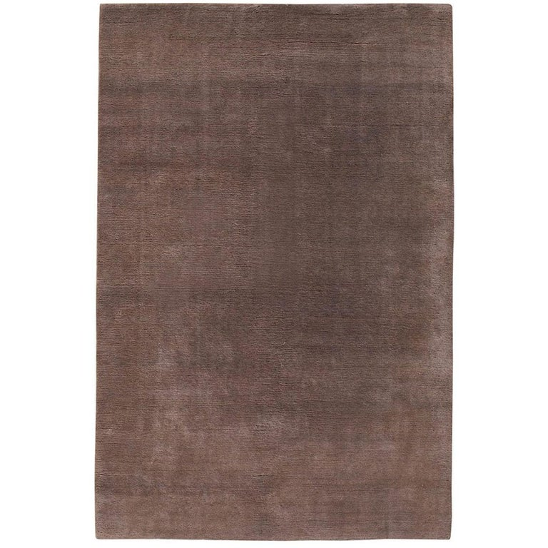 Mohair Sable Hand-Knotted 10x8 Rug in Wool by The Rug Company For Sale
