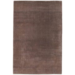 Mohair Sable Hand-Knotted Area Rug in Wool by The Rug Company