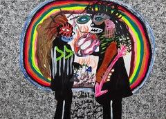 Love Mohammad Ariyaei 21st Century Iranian art Contemporary paint outsider art