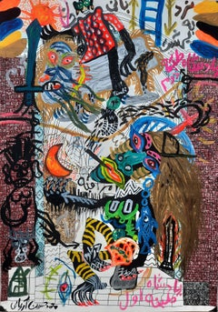 Stairway to Heaven Mohammad Ariyaei 21st Century art Iranian Contemporary paint