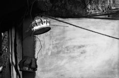 "Urban Lamp Shades, Black & White Photography by Indian Artist ""In Stock"""