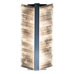 Mohawk Lighting Selenite Crystal Wall Sconce with Metal Base