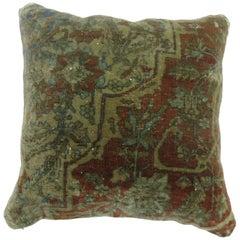 Mohtasham Medallion Kashan Rug Pillow