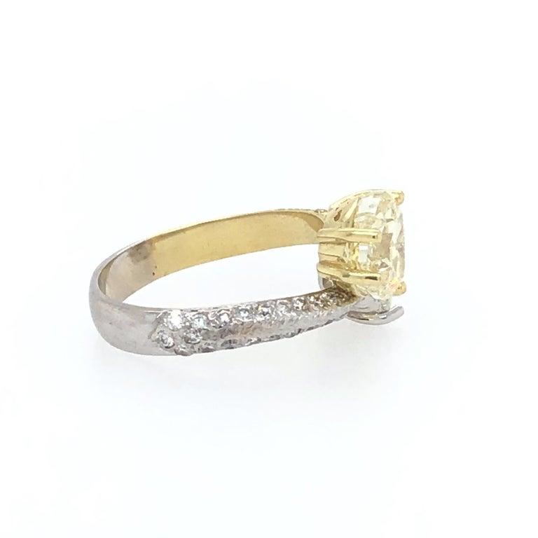 Moi Et Toi Double Hearts 3.46 Carat Diamonds Ring 18 Karat For Sale 3