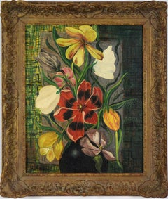 Fleurs by MOÏSE KISLING - still life, oil on canvas, flowers, post-Impressionist