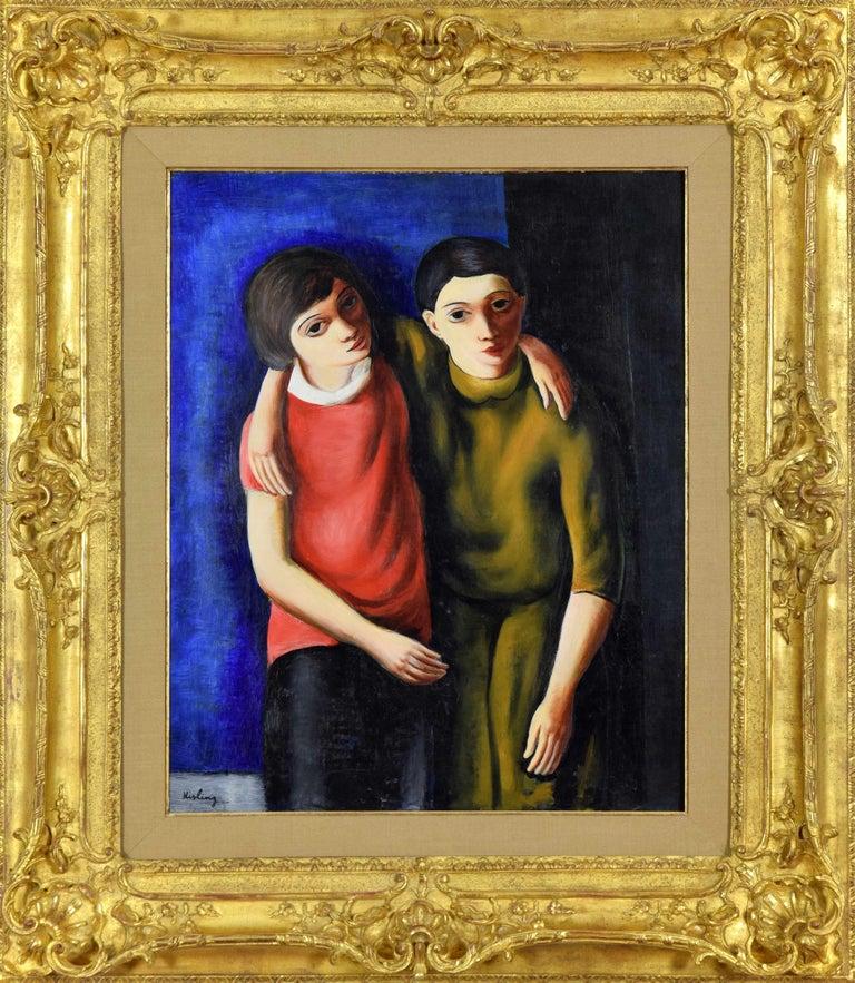 Frère et Sœur - Painting by Moise Kisling