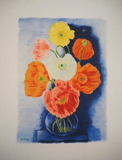 Bouquet of Poppies - Original Lithograph