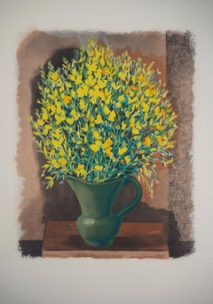 Bouquet of Yellow Wild Flowers - Original Lithograph