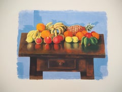 Table of Summer Fruits - Original Lithograph