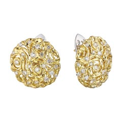 MOISEIKIN 18 Karat Gold Diamond Sapphire Starry Night Earrings