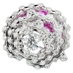 Moiseikin 18k White Gold 5ct Up Diamond Brooch