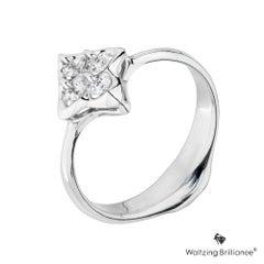 MOISEIKIN 18K White Gold Diamond Ring Gift Promotion