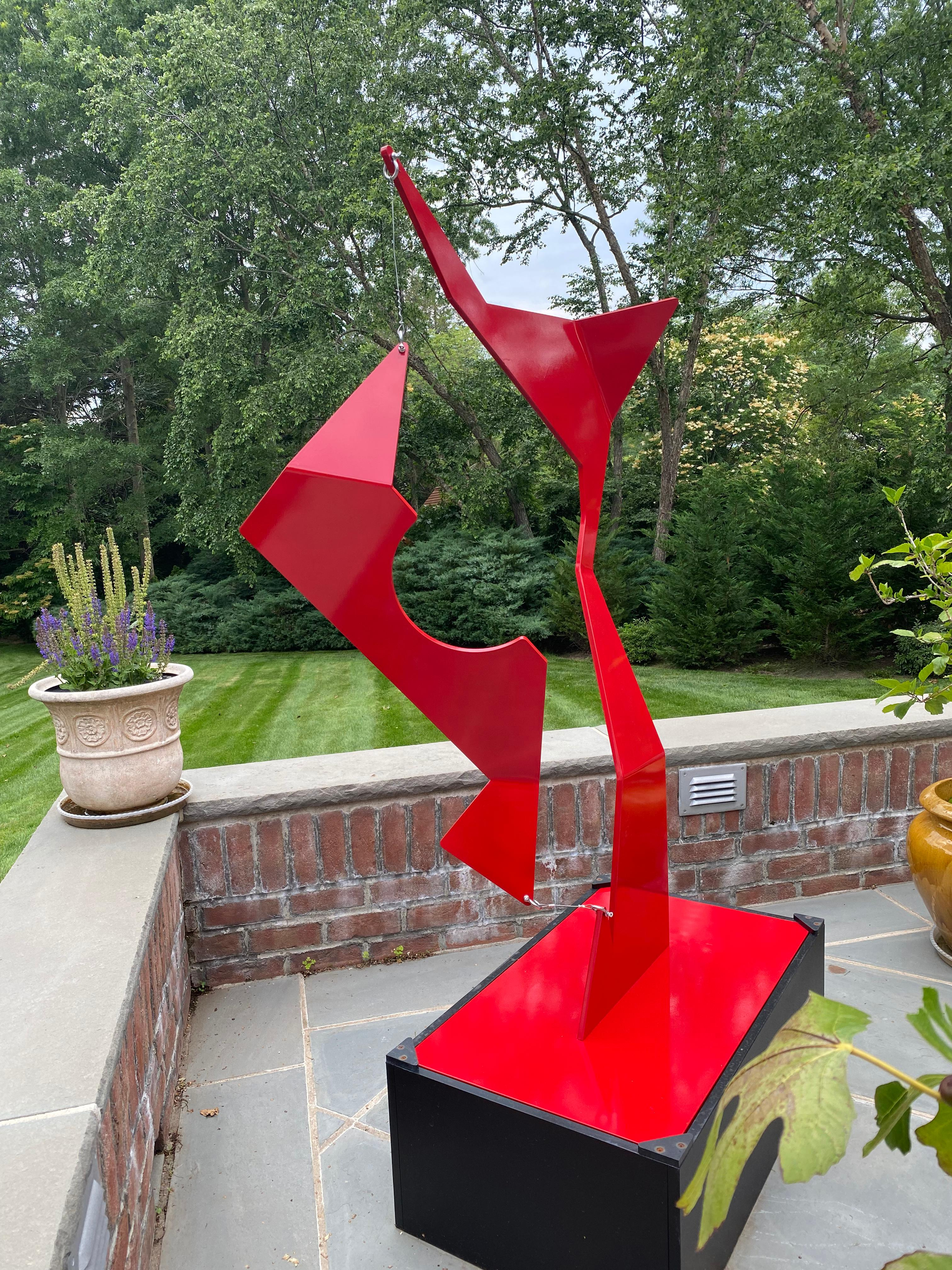"""""""Mast Boom"""" Abstract Kinetic Outdoor Sculpture"""