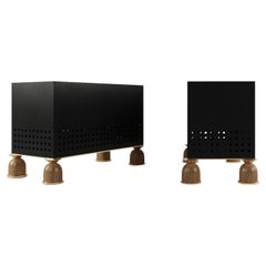 Moisture-Resistant MDF Sideboard with Brass, Greenhouse Collection