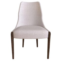 Moka Dining Chair in White Vellutino Fabric