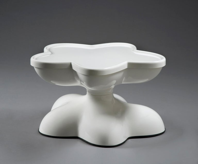 American Wendell Castle Molar Swivel Coffee Table in White Plastic For Sale