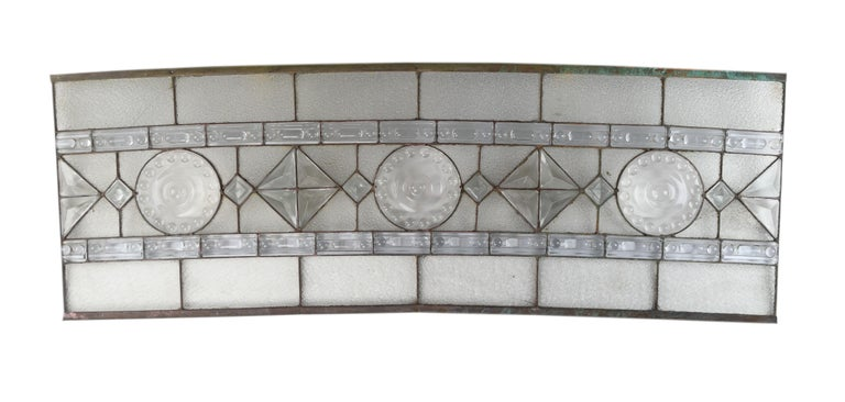 American Molded Glass 4-Piece Arched Window For Sale
