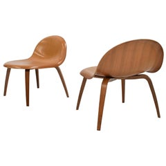 Molded Plywood Lounge Chairs by Boris Berlin and Poul Christiansen for Komplot