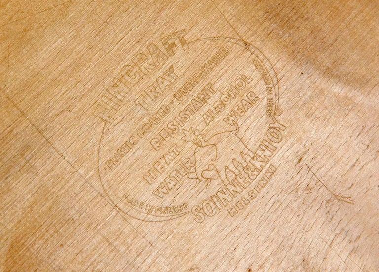 Finnish Molded Plywood Trays by Tapio Wirkkala For Sale