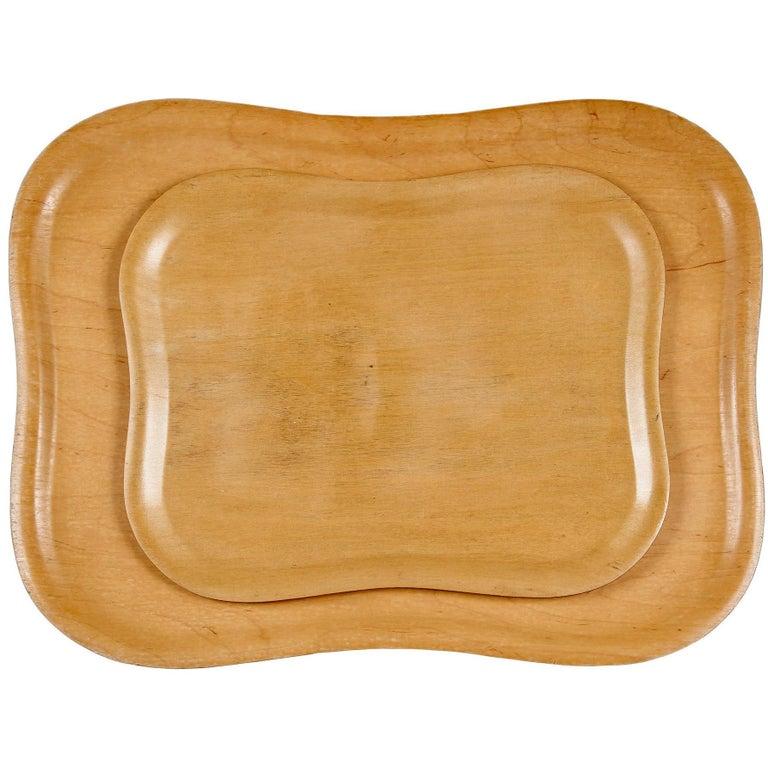 Molded Plywood Trays by Tapio Wirkkala For Sale