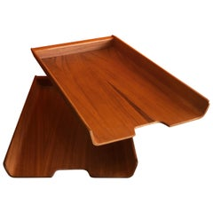 Molded Teak Plywood Double Letter Tray by Martin Aberg for Rainbow of Sweden
