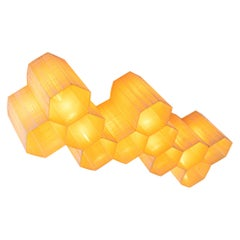 1950 Molecular 'Honeycomb' 11-light Flush Mount & Wall Light Fiberglass & Steel