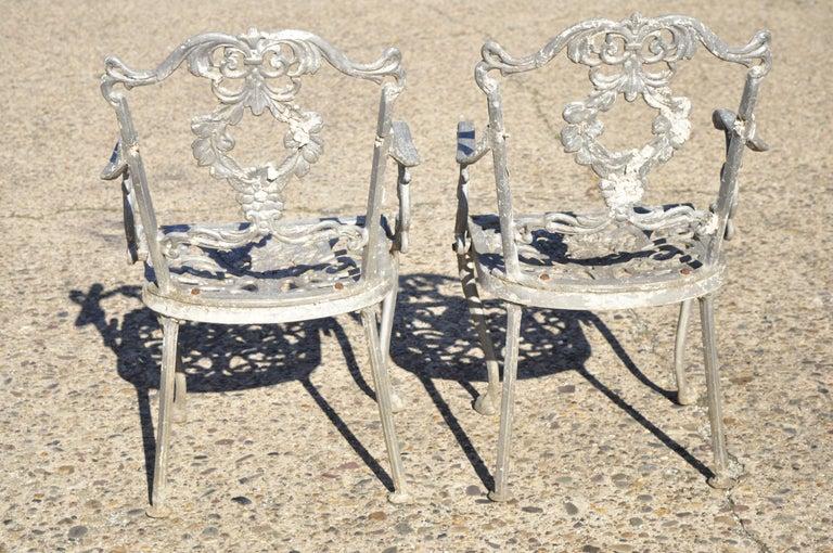 Molla Antique French Victorian Aluminum Garden Patio Bistro Dining Set, 3 Piece 5