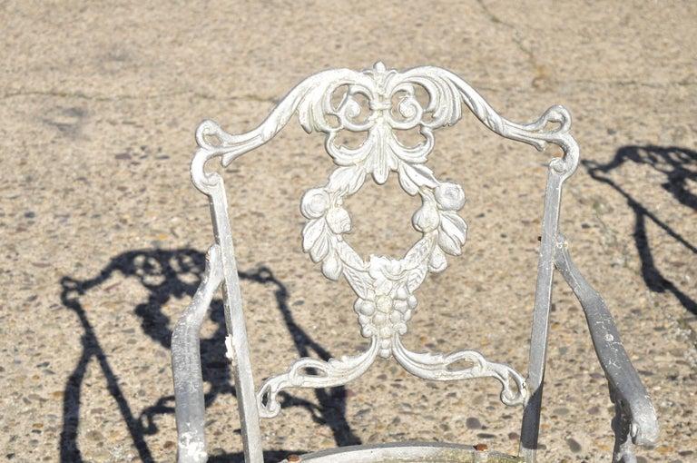 North American Molla Antique French Victorian Aluminum Garden Patio Bistro Dining Set, 3 Piece