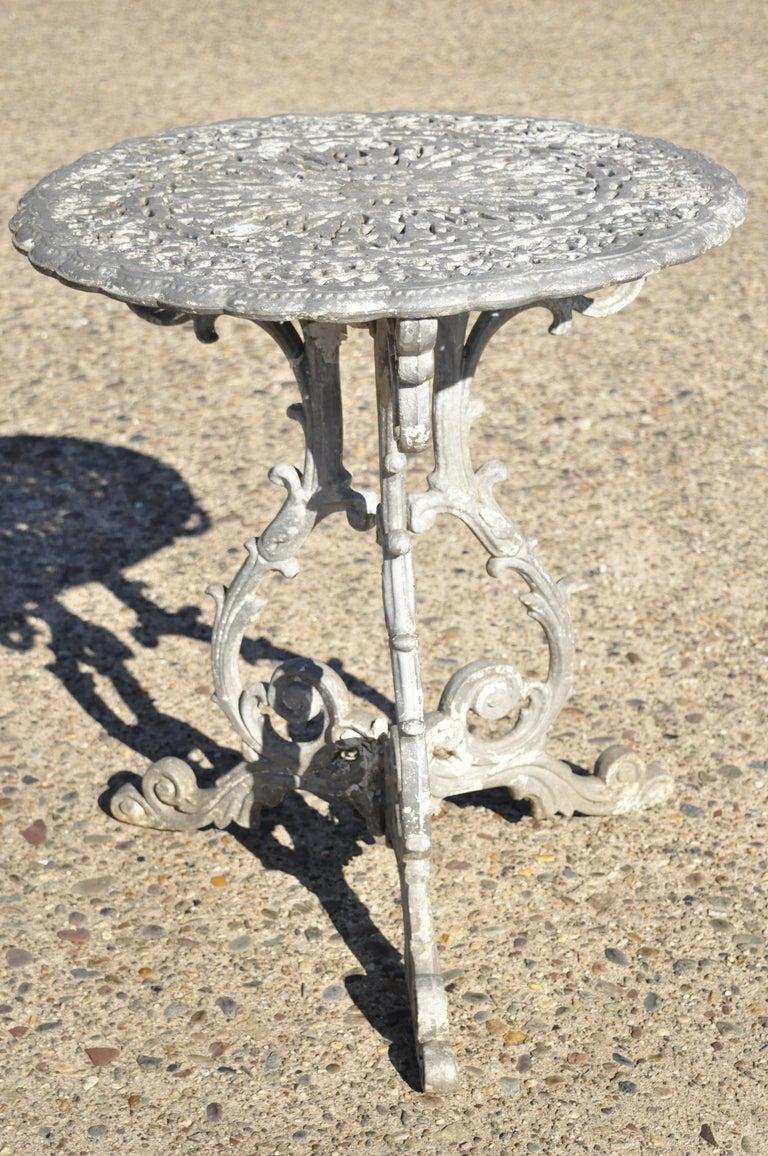 20th Century Molla Antique French Victorian Aluminum Garden Patio Bistro Dining Set, 3 Piece