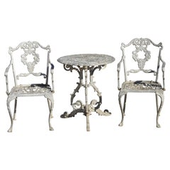 Molla Antique French Victorian Aluminum Garden Patio Bistro Dining Set, 3 Piece