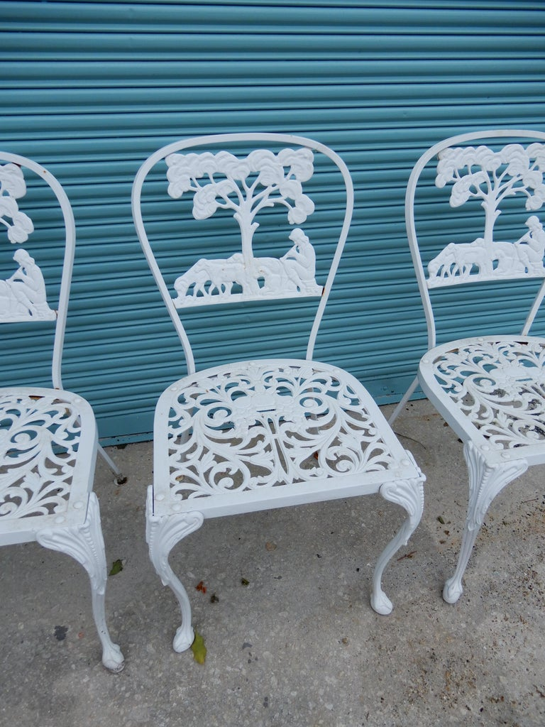 Mid-Century Modern Molla Dining Chairs Figural Cast Aluminum For Sale