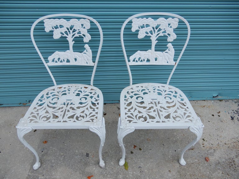 American Molla Dining Chairs Figural Cast Aluminum For Sale