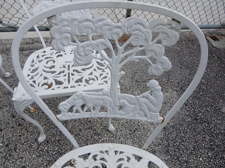 Molla Dining Chairs Figural Cast Aluminum For Sale 1