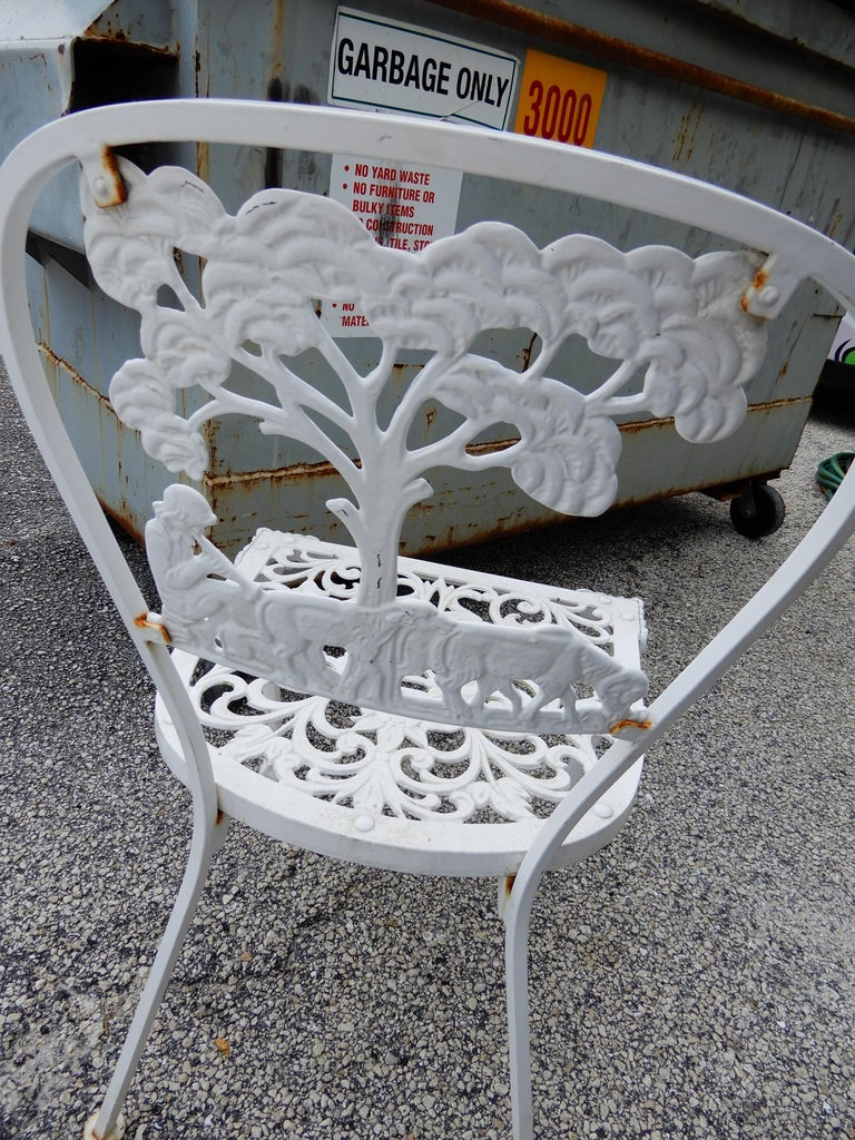 Molla Dining Chairs Figural Cast Aluminum For Sale 2