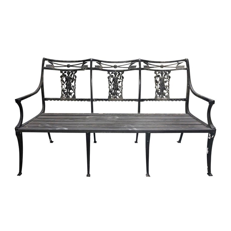 Magnificent Molla Wrought Iron Neoclassical Diana The Huntress Garden Bench Circa 1950S Gamerscity Chair Design For Home Gamerscityorg