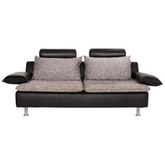 Möller Design Tayo Leather Sofa Black Two-Seat Couch