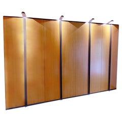 Möller Design Wood Cabinet Brown Incl. Lighting Wall Unit