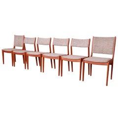 Moller Style Danish Modern Teak Dining Chairs, Set of Six