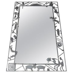 Mollie Massie Iron Frame Mirror