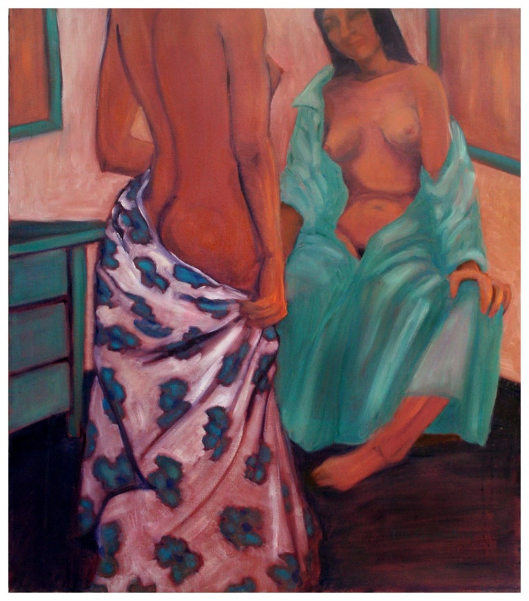 Nude Study Models Figurative - Painting by Molly E. Brubaker