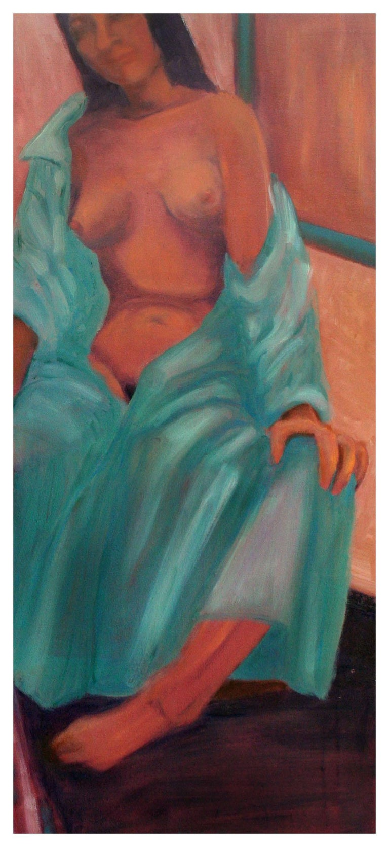 Nude Study Models Figurative - American Modern Painting by Molly E. Brubaker