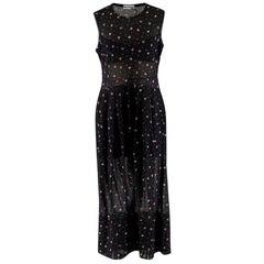 Molly Goddard Black Floral Print Sheer Panelled Dress - Size M