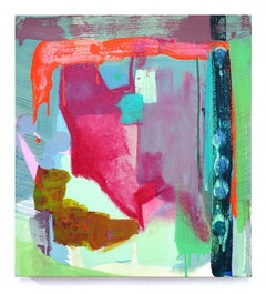 """Molly Herman """"Spectral Envelope"""" small abstract painting"""