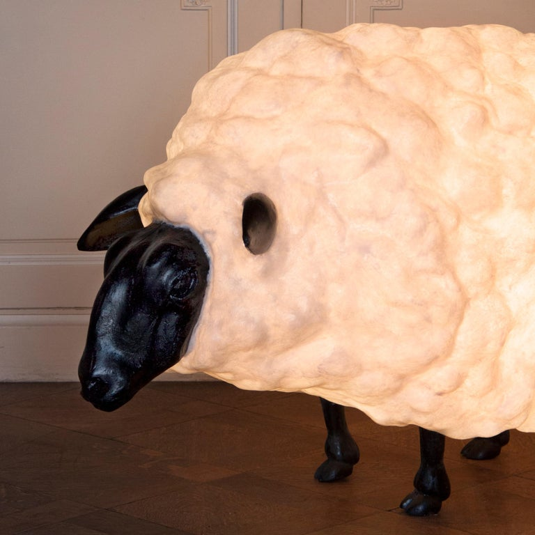 Molly light sculptureby Atelier Haute Cuisine Dimensions: 65 x 11 x 75 cm   The cloned sheep Dolly gave us the inspiration to give the sheep cloning a go for ourselves. After the first sheep was sculpted, we cloned each body part separately so