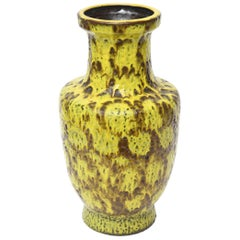 Molten Fat Glaze German Bay Ceramic Mid-Century Modern Vase or Vessel